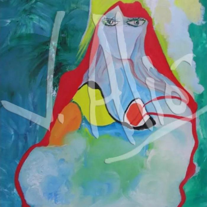 Imaginativa Figuration: Female Silhouette with Veil